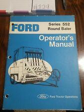 Ford Hay Baler Round Series 552 Operators Manual Tractor Farm Equipment