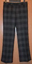 Womens Black Plaid Worthington Modern Fit Trouser Leg Pants Size 8 S NWT NEW