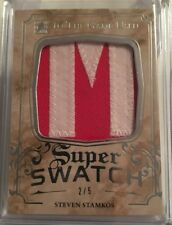 2016 IN THE GAME USED - STEVEN STAMKOS - #2/5 - SUPER SWATCH LETTER - ITG - LEAF