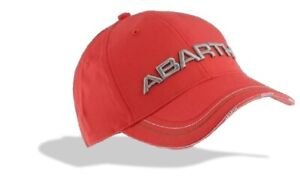 CAP Abarth Rally Fiat  Red with 3D Embroidered Logo NEW! Motorsport Merchandise
