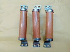 Vintage Wood & Metal Door Handle.Home Decor Wooden Door Pull.SET 3pcs