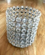 """5"""" Tall Crystal Gem Pillar Candle Holder, Order w/ 4 or more ships free!"""
