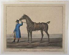 CHARLES FRANCOIS LEVACHEZ Engraving All Steel Tout Acier EQUESTRIAN HORSES C1800
