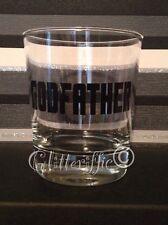 X2 Godfather DIY Black Vinyl Decal Sticker Christening Gift Pint Wine Glasses