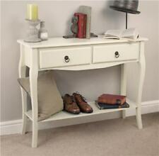 Vintage Maria 2 Drawer Ivory Console Dressing Table Unit Desk Hallway Bedroom