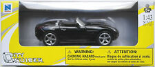 NEWRAY - 2006 Pontiac Solstice nero 1:43 Nuovo/Scatola Originale modello di auto