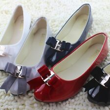 Womens Flat Ballet Slip On Bowknot Pumps Boat Shoes  Lady Casual Loafers New