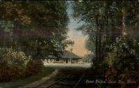 Onset Bay Cape Cod MA RR Train Station Depot c1910 Postcard