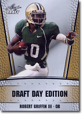 ROBERT GRIFFIN III - RG3 - 2012 Leaf Draft Day GOLD Football PROMOTIONAL Card a