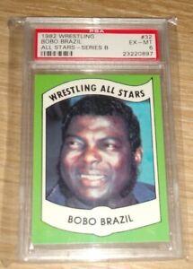 1982 Wrestling All Stars Bobo Brazil Series B PSA 6 Number 32