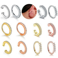 1PC Daith Piercings Faked Nose Septum Ring Ear Cartilage Tragus Helix Piercing