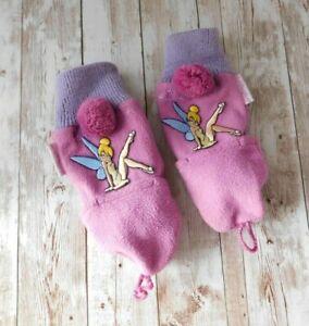 Disney World Tinkerbell Youth Adult Mitten Finger Gloves Purple 100% Polyester