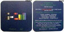 "COLDPLAY ""X&Y - TWISTED LOGIC TOUR 2005""  BIERDECKEL SET - 6 STÜCK"