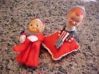 Rubber Faces Tiny Ears Vintage Elves Elf Knee Huggers Pixies Christmas
