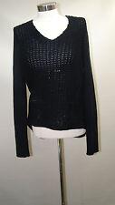 Used RDI Women Open Knit Sweater 455174N /Navy /Medium.