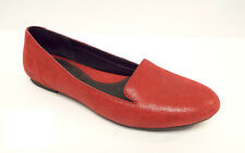 BORN Size 6 Red Textured Leather Loafers Flats Shoes