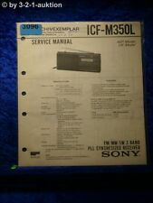 Sony Service Manual ICF M350L PLL Synthesized Receiver (#3096)