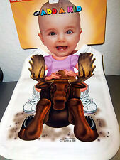 NEW! Just Add a Kid oversize super absorbent Baby Bib Baby Girl Riding a Moose