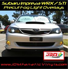 08-10 Subie WRX STi Impreza Fog Light Yellow Overlays TINT JDM Rally Precut Kit