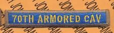 70TH ARMORED CAV Heavy TANK TAB patch