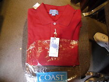 Coast Pawleys Island Winyah Polo Maroon New Shirt Size Extra Large XL
