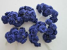 72 Paper Roses | Royal Blue | 12 on Stems | Wedding Decor | Decoration |