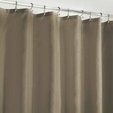 "mDesign Long Water Repellent Fabric Shower Curtain/Liner, 72 x 84"" - Taupe/Brown"