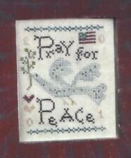 BIRDS OF A FEATHER PRAY FOR PEACE CROSS STITCH SAMPLER CHART