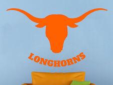 Texas Longhorns Wall Vinyl Decal Sticker Sport Home Decor NCAA Football Emblem