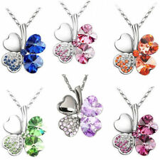 Silver Plated Heart Cubic Zirconia Costume Necklaces & Pendants