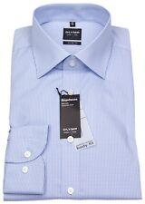 Olymp Herren Hemd Level 5 Bodyfit Vichykaro blau / weiß 4086 64 11