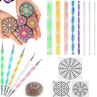 33pcs Mandala Dotting Tools Rock Painting Kit Dot Nail Art Pen Paint Stencil