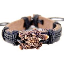 Cute turtle mother child Leather Bracelet adjustable Bangle S-257