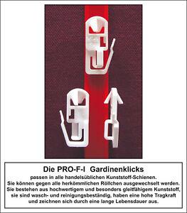 PRO-F-I Gardinenklicks   201-teiliges Set Gardinen Klicks mit Wäschenetz