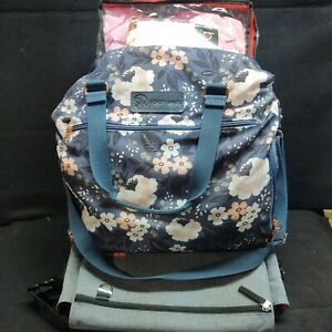 3 Items  Sarah Wells pump bag, Skip Hop diaper bag, Blue Banana Burrito wrap bag