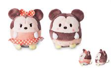 "Plush by Disney Store Mickey & Minnie Mouse UFUFY Mini 2pc Set Stuffie 2.5"" New"