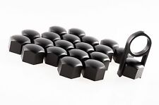 Set 20 Black Car Caps Bolts Alloy Wheels For Nuts Covers 17mm ABS PC Plastic