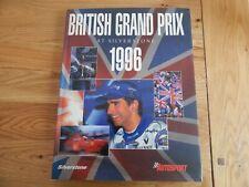 SIGNED BRITISH GRAND PRIX AT SILVERSTONE 1996 HARDBACK BOOK FORMULA 1 ONE GP