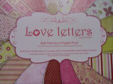 First Edition Love Letters 8x8 paper pad