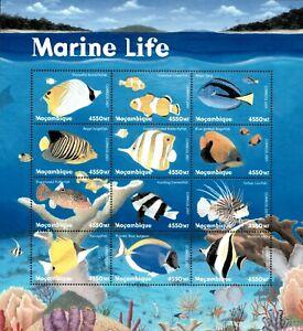 Mozambique 2001 - Marine Life Fish - Sheet of 12 - Scott 1408 - MNH
