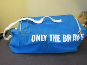 DIESEL ONLY THE BRAVE SPORTS BAG IN BLUE.