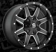 18x9 ET-12 Fuel D538 Maverick 8x170  Black Milled Rims (Set of 4)