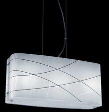Lampadario sospensione Laredo moderno in vetro serigrafato 3 luci