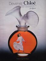 PUBLICITÉ DE PRESSE 1978 DEVENEZ CHLOÉ PARFUMS KARL LAGERFELD - ADVERTISING