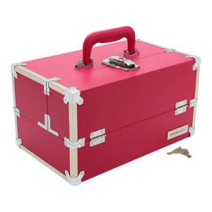 Japonesque Medium Train Case CS-351 Pink Brand New