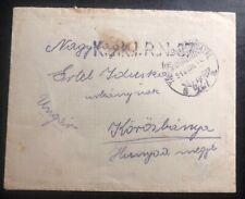 1918 KUK Feldpost Hungary In Italy Military Cover WW1 To Korosbanya