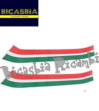 6977 KIT ADESIVI ITALIA PER FIANACATA SINISTRA + DESTRA VESPA 50 125 150 LX LXV