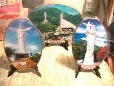 Lot of 3 VIETNAMESE HEAVENLY MOTHER OF MARY & Baby JESUS Decorative Plaques