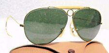 Ray-Ban USA *NOS Vintage *B&L Aviator L0213 *G-15 Bullet Hole Shooter Sunglasses