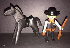 Vintage Playmobil 3581 Sheriff & Black Horse Geobra 1974